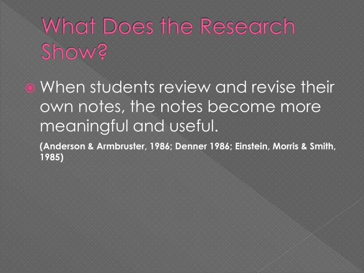 What Does the Research Show?