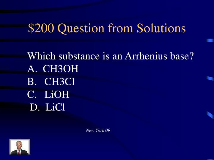 $200 Question from Solutions