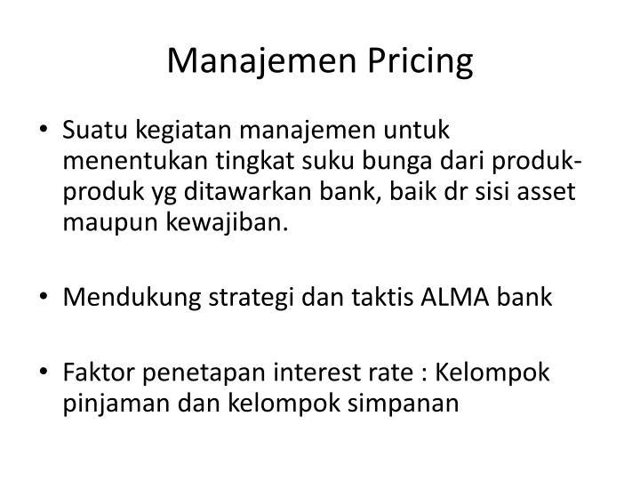 Manajemen Pricing