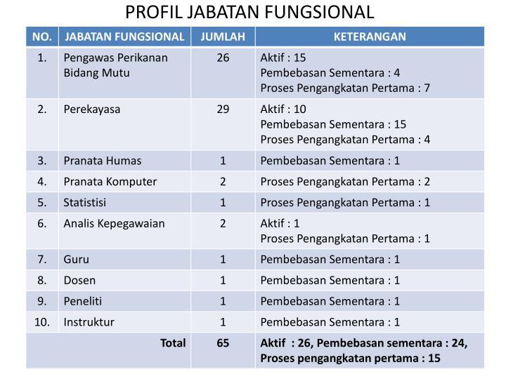 PROFIL JABATAN FUNGSIONAL