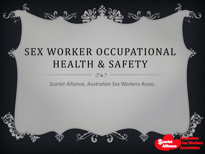 Sex worker occupational health safety