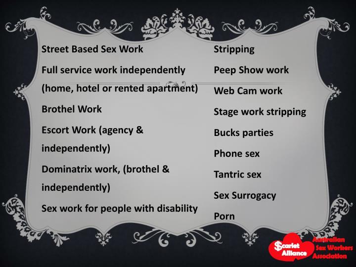 Street Based Sex Work