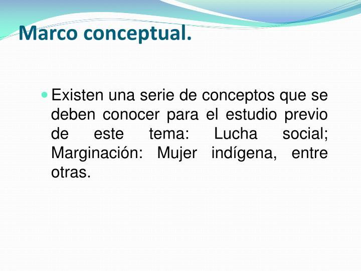 Marco conceptual.