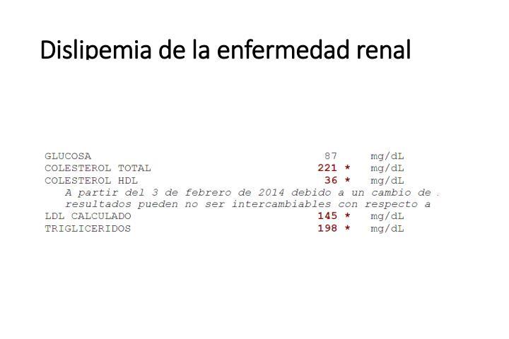 Dislipemia de la enfermedad renal
