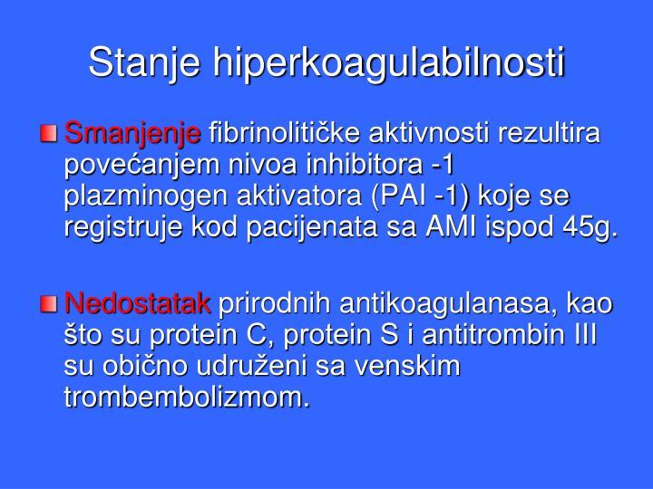 Stanje hiperkoagulabilnosti