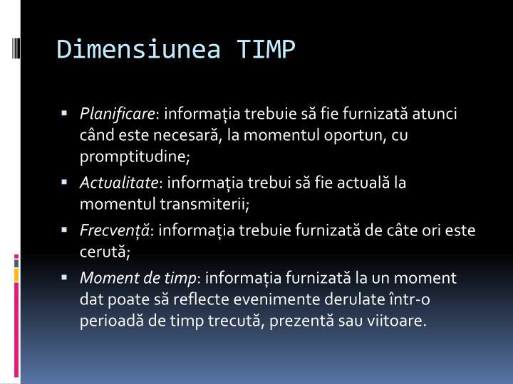 Dimensiunea TIMP