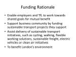 funding rationale
