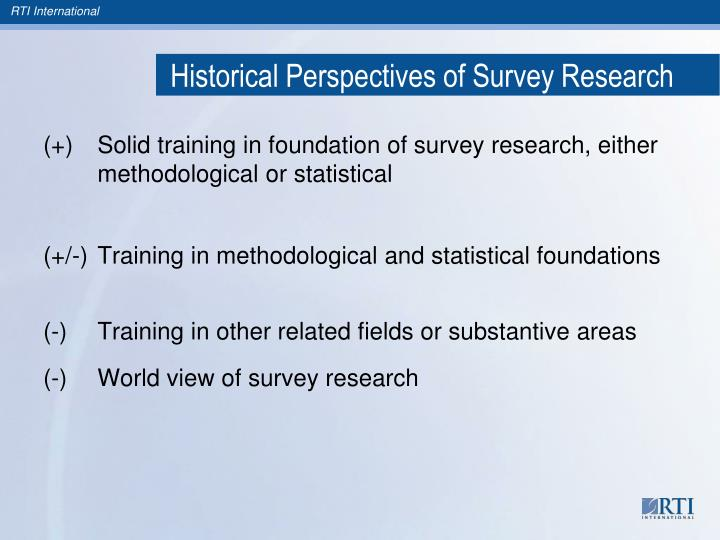 Historical Perspectives of Survey Research