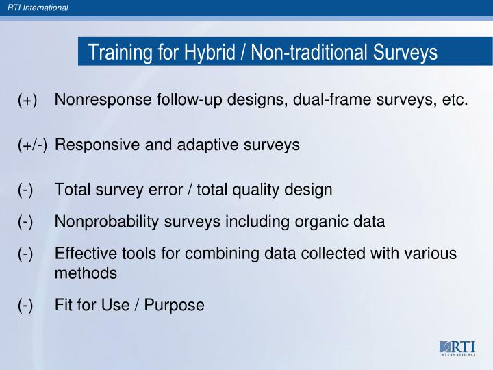 Training for Hybrid / Non-traditional