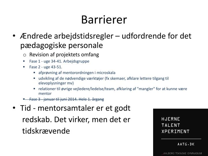 Barrierer