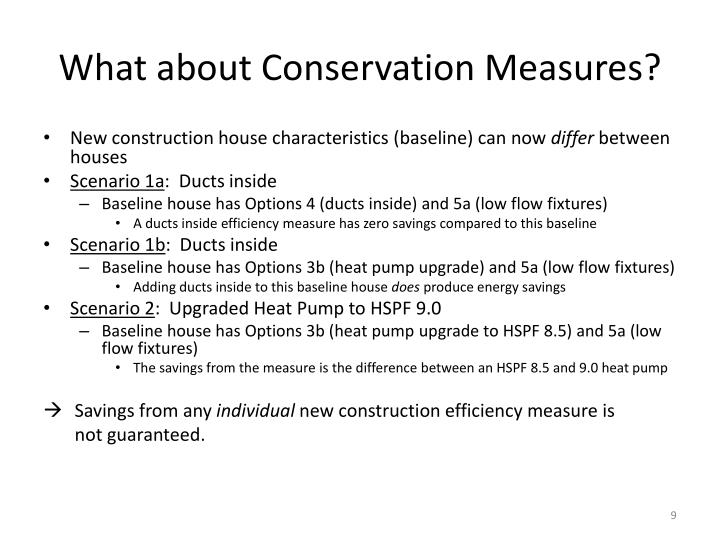What about Conservation