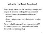 what is the best baseline