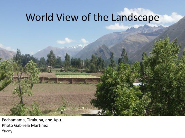 World View of the Landscape