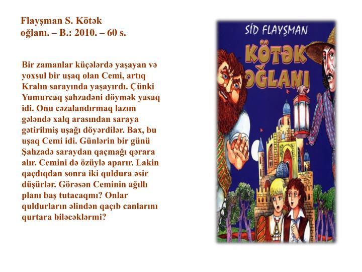 """Image result for Sid Flayşman """"Kötək oğlanı"""""""