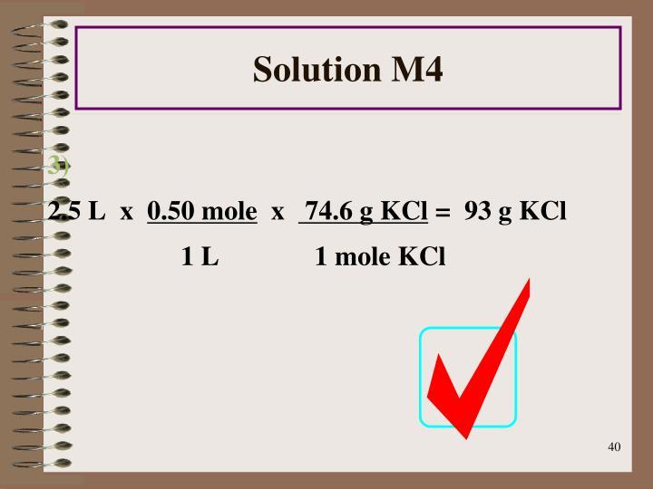 Solution M4