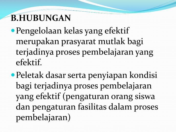 B.HUBUNGAN