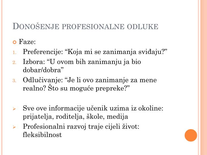 Donošenje profesionalne odluke