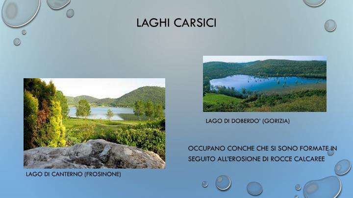 LAGHI CARSICI