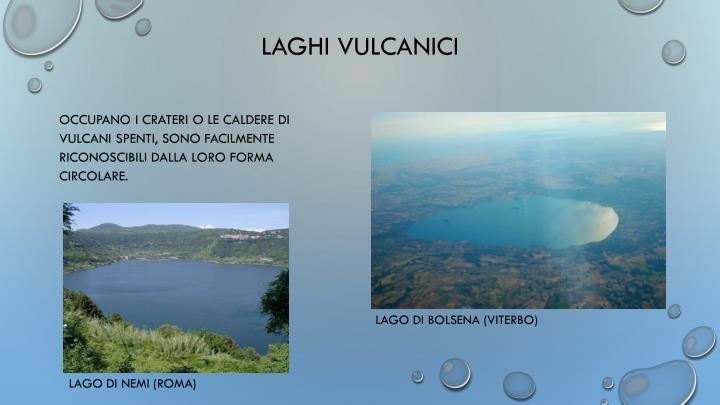 LAGHI VULCANICI