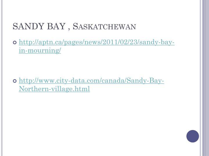 SANDY BAY , Saskatchewan