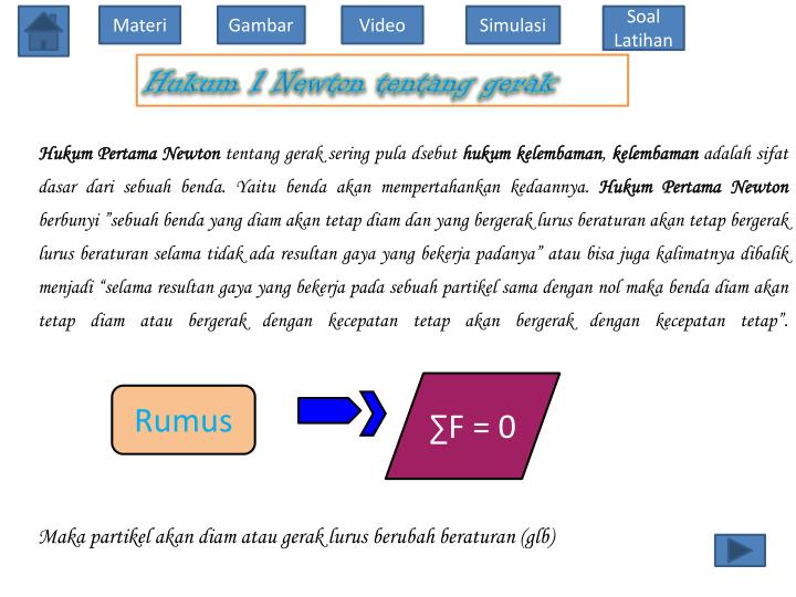 Hukum 1 Newton tentang gerak