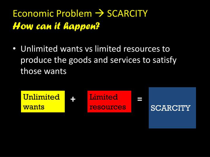 Economic problem scarcity how can it happen