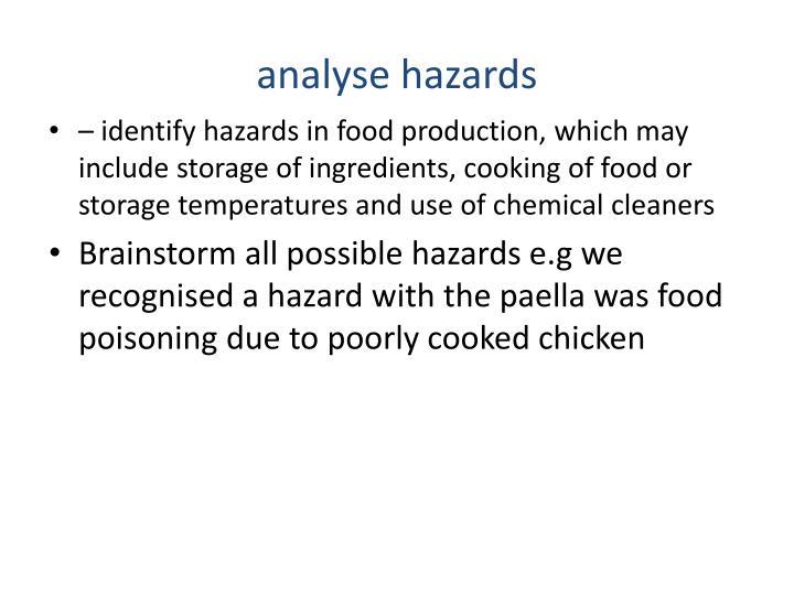 analyse hazards