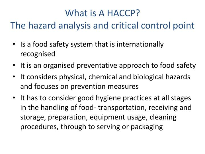 What is A HACCP?