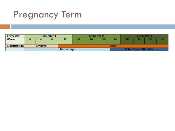 Pregnancy Term