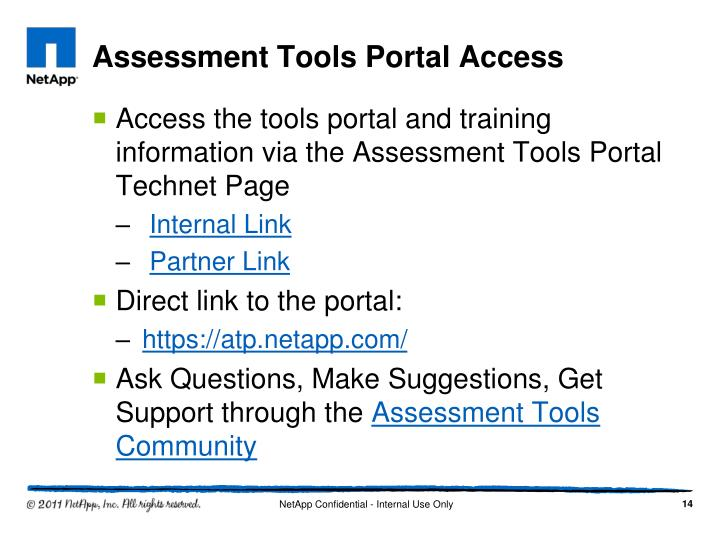 Assessment Tools Portal Access