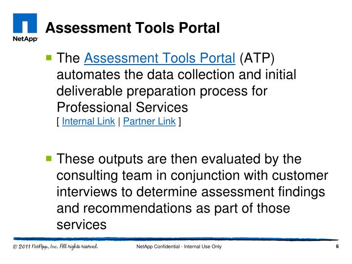Assessment Tools Portal