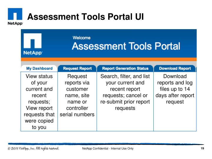 Assessment Tools Portal UI