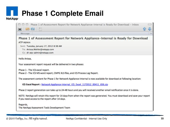 Phase 1 Complete Email