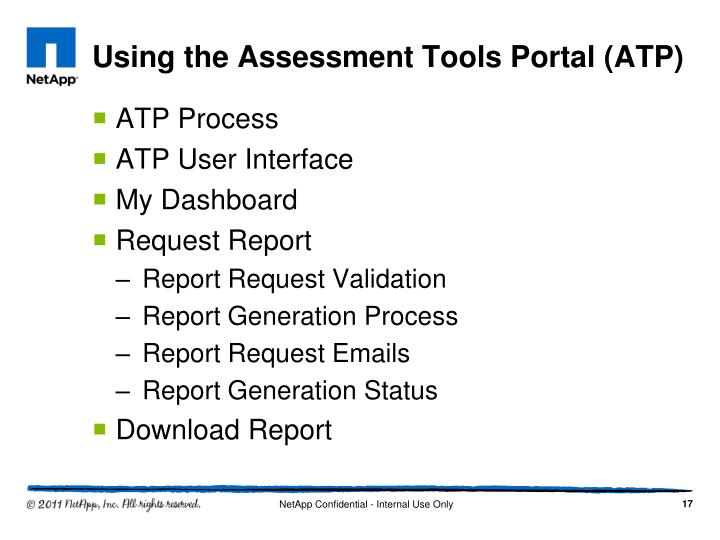 Using the Assessment Tools Portal (ATP)