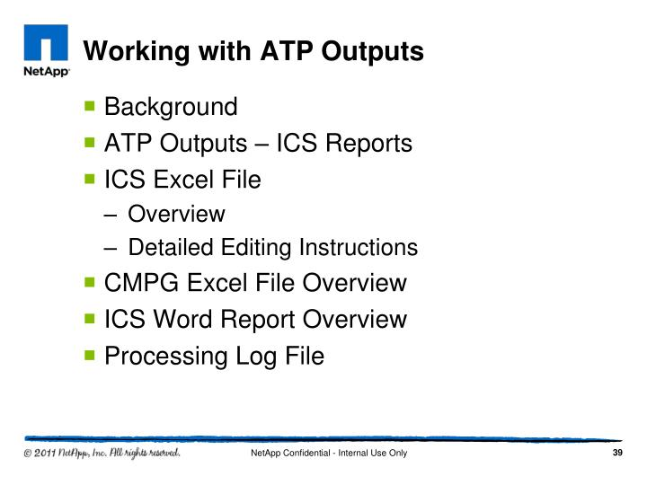 Working with ATP Outputs