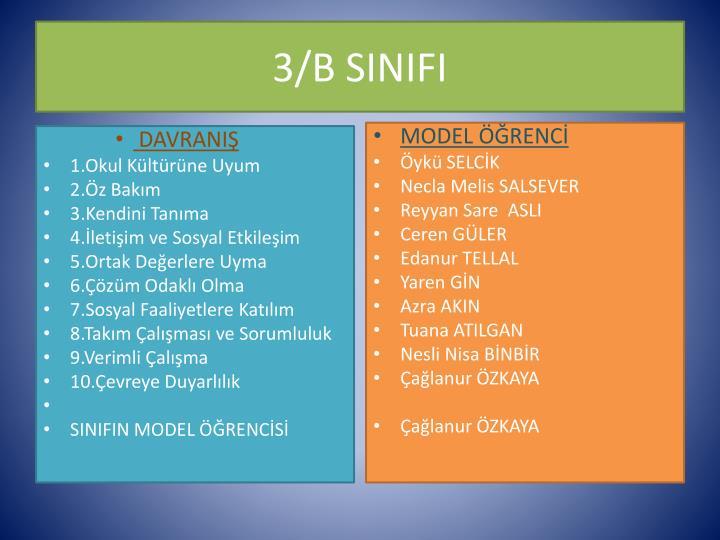 3/B SINIFI