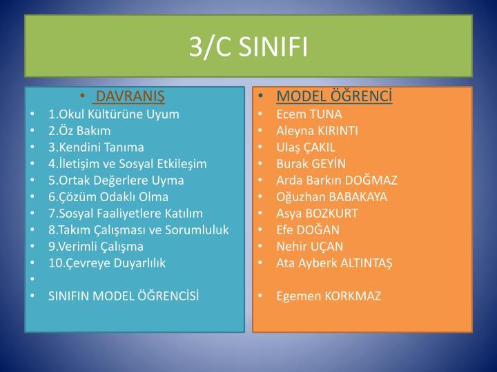 3/C SINIFI