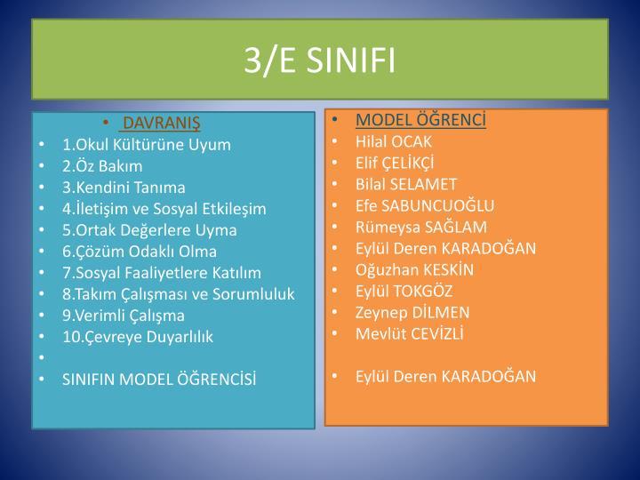 3/E SINIFI