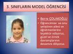 3 siniflarin model renc s