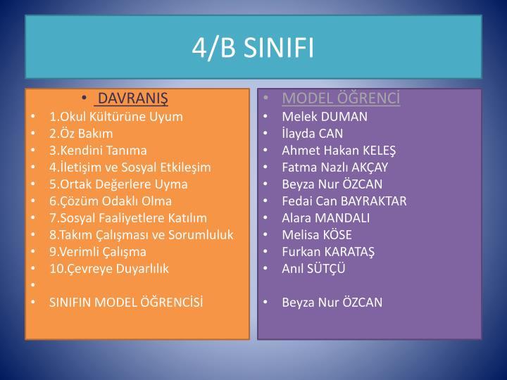 4/B SINIFI