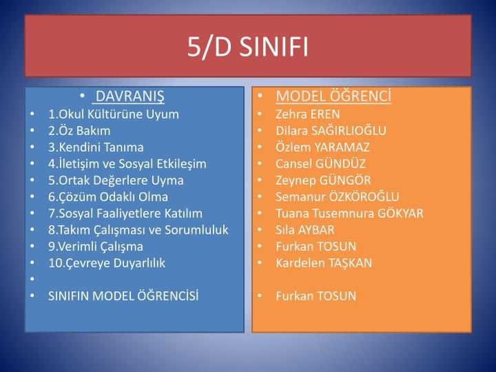5/D SINIFI