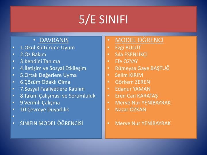 5/E SINIFI