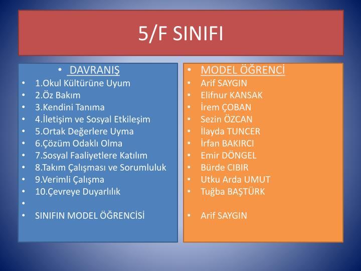 5/F SINIFI