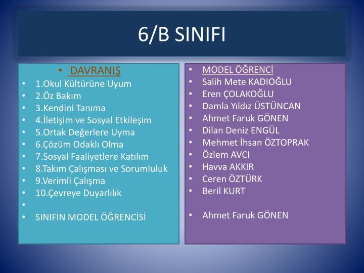 6/B SINIFI