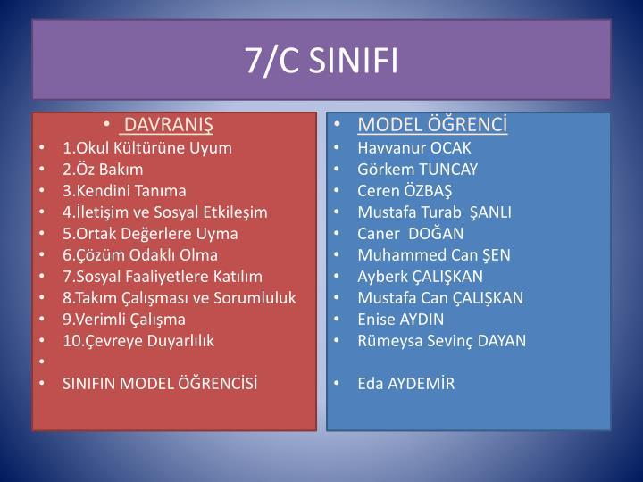 7/C SINIFI