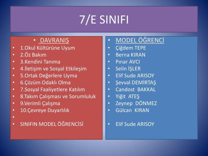 7/E SINIFI