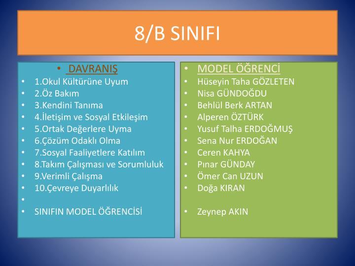 8/B SINIFI
