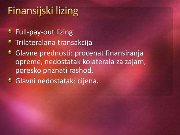 Finansijski lizing