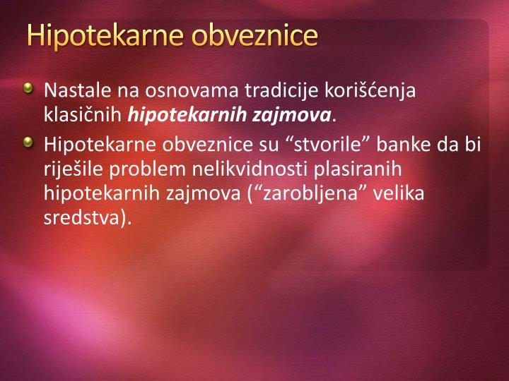 Hipotekarne