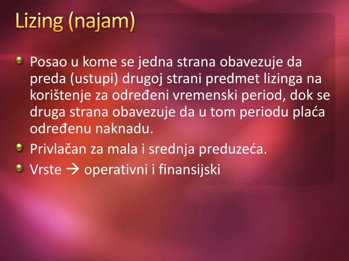 Lizing (najam)